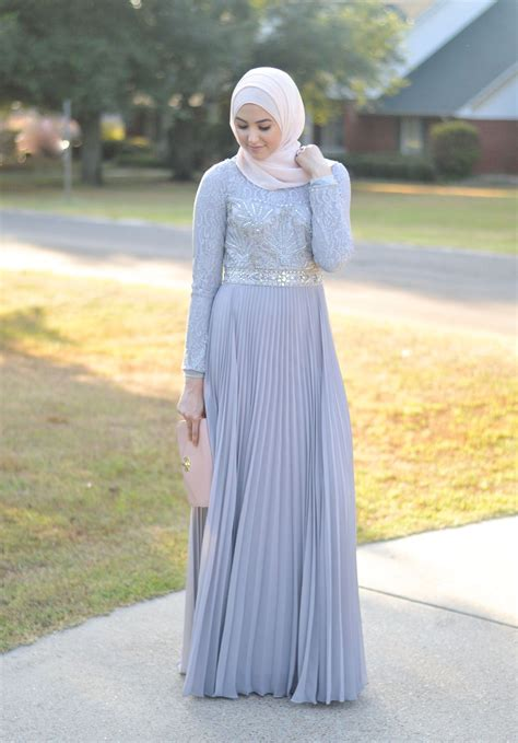Gamis Syari Li Wiwik Blue evening gown fashion with leena a