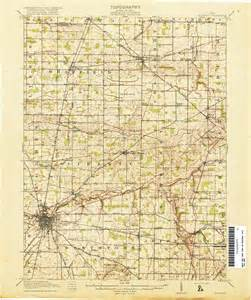 Topographical Map Of Ohio by Ohio Historical Topographic Maps Perry Casta 241 Eda Map