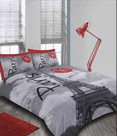 Eiffel Tower Duvet Set France Eiffel Tower Paris With Love Red Lips Funky New