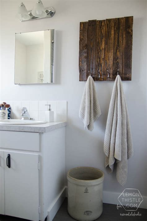 diy bathroom remodels remodelaholic diy bathroom remodel on a budget and