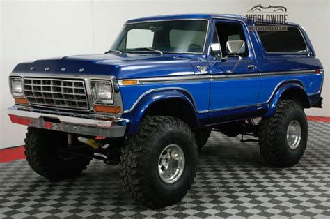 bad ford trucks 1978 ford bronco big bad and blue ford trucks