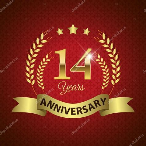 14 Years Anniversary Seal ? Stock Vector © harshmunjal