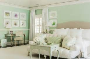 Green Bedroom Walls mint green bedrooms cottage bedroom brookes and hill