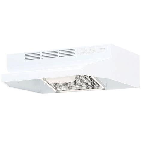 broan nutone under cabinet range hoods broan 41000 series 21 in non vented range hood in white