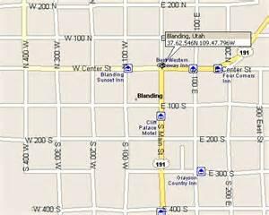 Blanding Utah Map by Blanding Utah Map 3