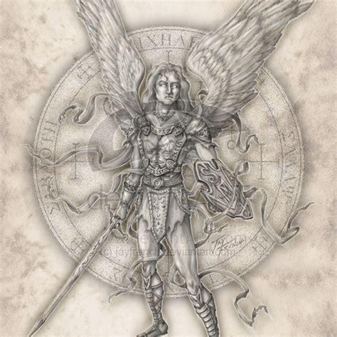 angel uriel tattoo st michael the archangel drawing