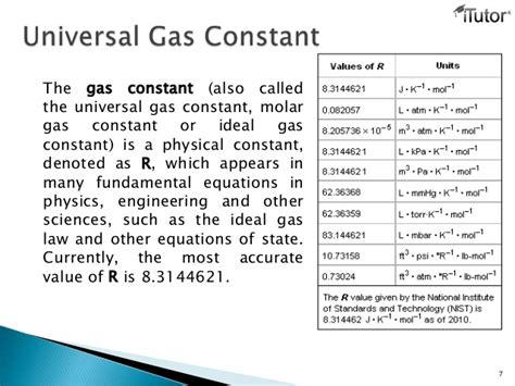 universal gas constant gas laws