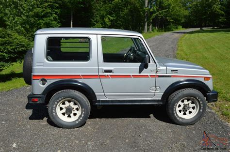 suzuki samurai tin top 1987 suzuki samurai tin top rare clean car fax low miles
