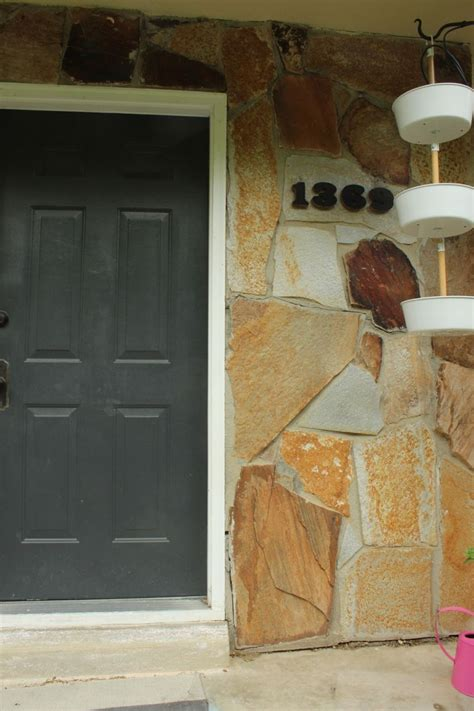 diy house how to mount modern house numbers on a rock