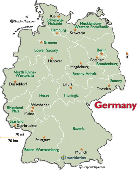 germany state map germany regions states map maps