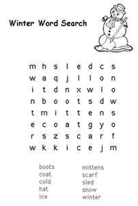 free printable winter word games 1000 images about kids activity pages on pinterest