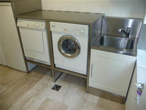 Armoire De Rangement Pas Cher 5427 rvs verhoging maken voor wasmachine droger werkspot