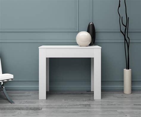 tavolo consolle bianco tavolo consolle allungabile bianco lucido duzzle