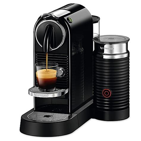 bed bath and beyond nespresso nespresso 174 citiz espresso maker with aeroccino plus milk