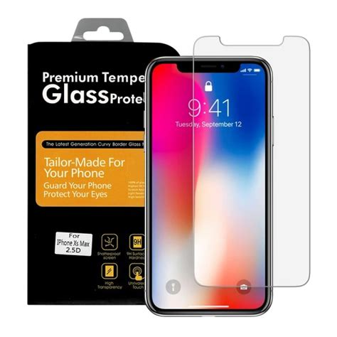 premium tempered glass protector  iphone xs max