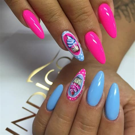 easy nail art pink and blue neon pink nail polish designs www pixshark com images