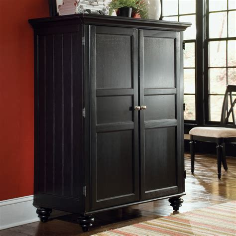 Office Armoires Furniture by American Drew Camden Computer Armoire Black At Hayneedle