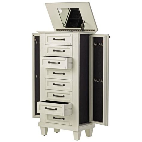 recessed jewelry armoire home decorators collection ivory jewelry armoire