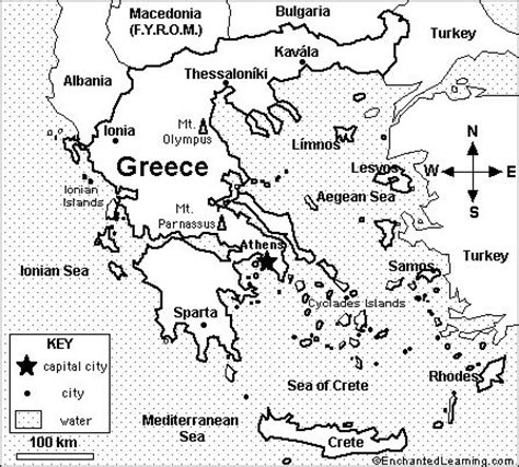 printable road map of greece ancient greece map activity
