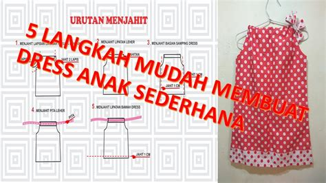 membuat pola baju boneka cara membuat pola dan menjahit baju dress anak perempuan
