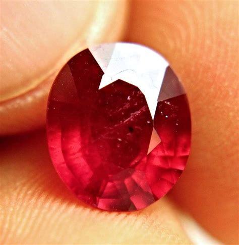 Cherry Ruby 4 20 carat fiery cherry ruby superb