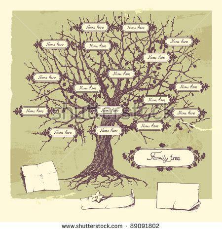 Hand Drawn Oak Tree Concept Illustration Family Tree 89091802 Shutterstock Family Tree Concept Illustration Vector