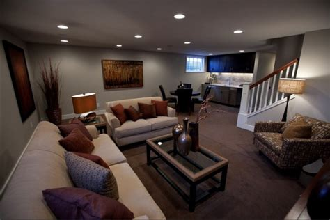 Basement Living Room | 30 basement remodeling ideas inspiration