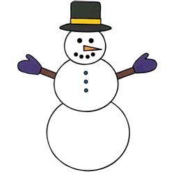 snowman paper craft instructions