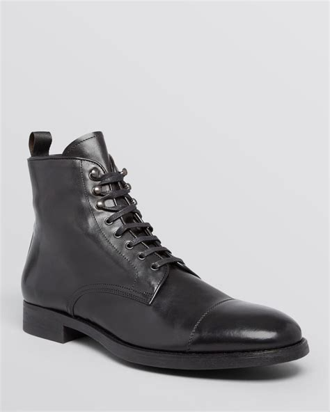 mens black cap toe boots to boot stallworth cap toe boots in black for lyst