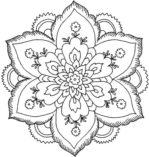 Detailed Coloring Pages For Adults Flowers | detailed flower coloring pages for adults best coloring