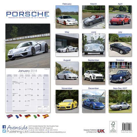 Calendar 2018 Car Porsche Calendar 2018 30262 18 Car Calendars