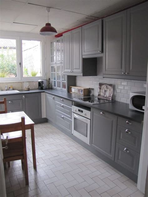 IKEA BODBYN kitchen. Flooring. I really like this  the natural light is nice.   Kitchen