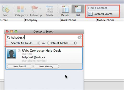 International Address Finder Global Address List Outlook 2011 For Mac Of