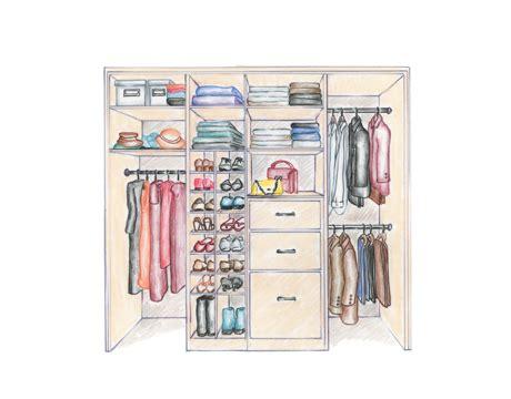 How To Draw A Closet by Design Your Closet To Work For You Custom Closets Direct