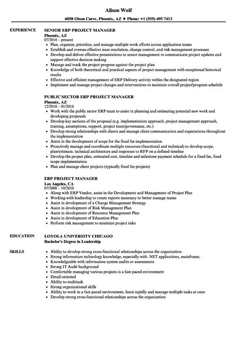 nice oracle erp project manager resume photos exle