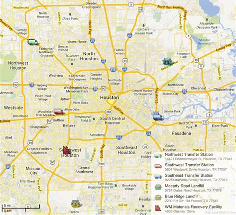 houston landfill map houston s of color neighborhoods unofficially