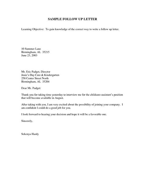 up letter after follow up letter after crna cover letter