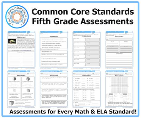 Common Math 5th Grade Worksheets by Fifth Grade Common Assessments