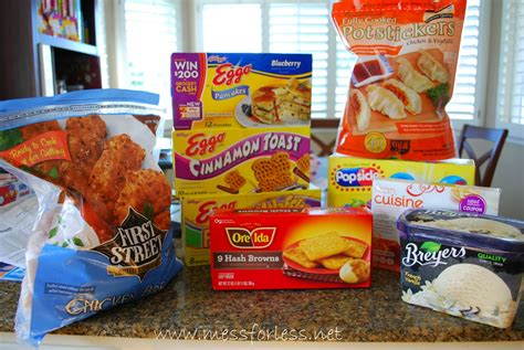 frozen food different kinds of frozen food for delicious dinner by