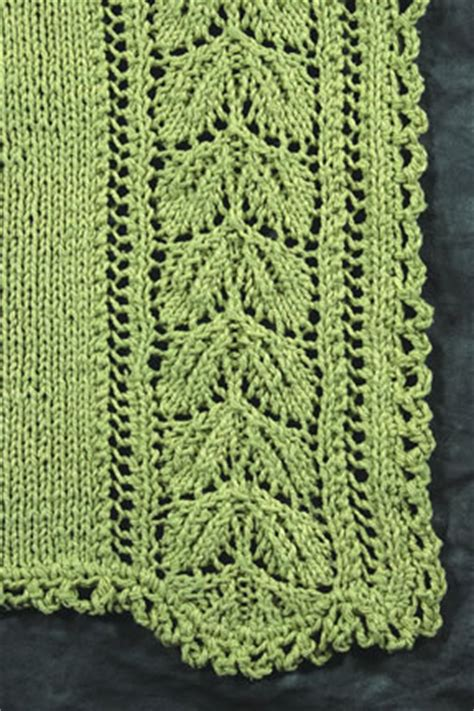 leaf edging knitting pattern leaf lace patterns 1000 free patterns