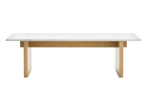 In The Table Solid Coffee Table Minimalistic Design In Marble And Ash