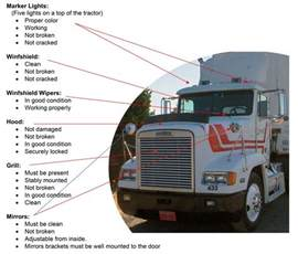 Cdl Tx Pre Trip Inspection Tractor Trailer Cdl Test Cdl