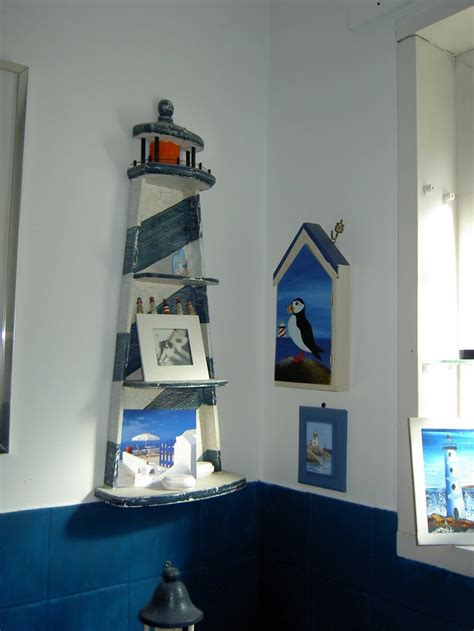 Bathroom shelf lighthouse theme nautical pinterest