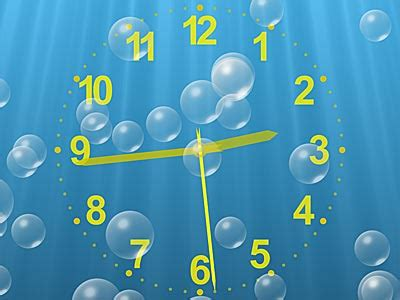 clock themes for xp free download underwater clock screen saver and bubbles screen saver for