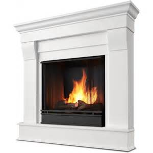 real chateau 40 inch corner gel fireplace white