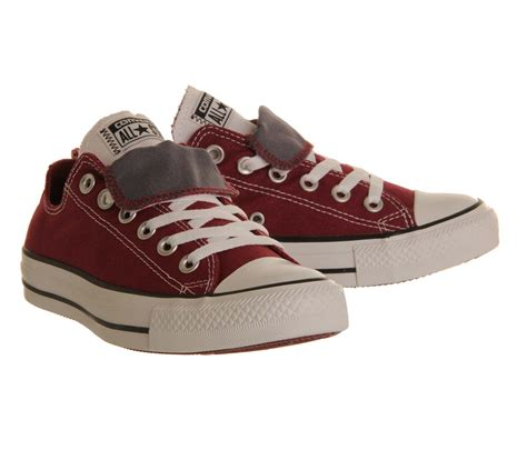 Sepatu Converse Low Maroon Unisex converse allstar low tongue maroon white grey unisex sports