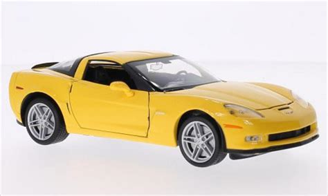 Welly Chevrolet Custom Decal c5 yellow die cast models autos post