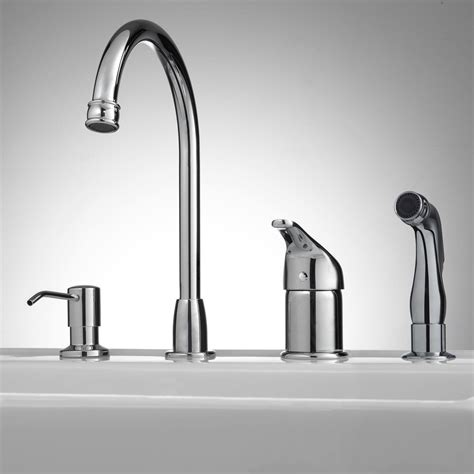 kitchen faucet with sprayer and soap dispenser widespread kitchen faucet with side spray and soap dispenser ebay