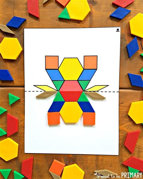 pattern blocks activities elementary the 25 best ideas about symmetry activities on pinterest