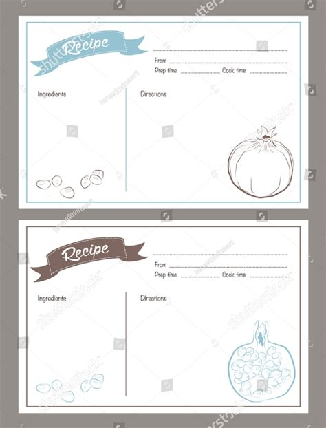 free restaurant recipe card template 14 restaurant recipe card templates designs psd ai